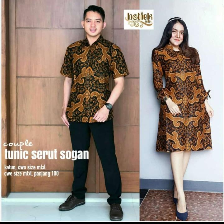Batik Couple Tunic Serut Sogan