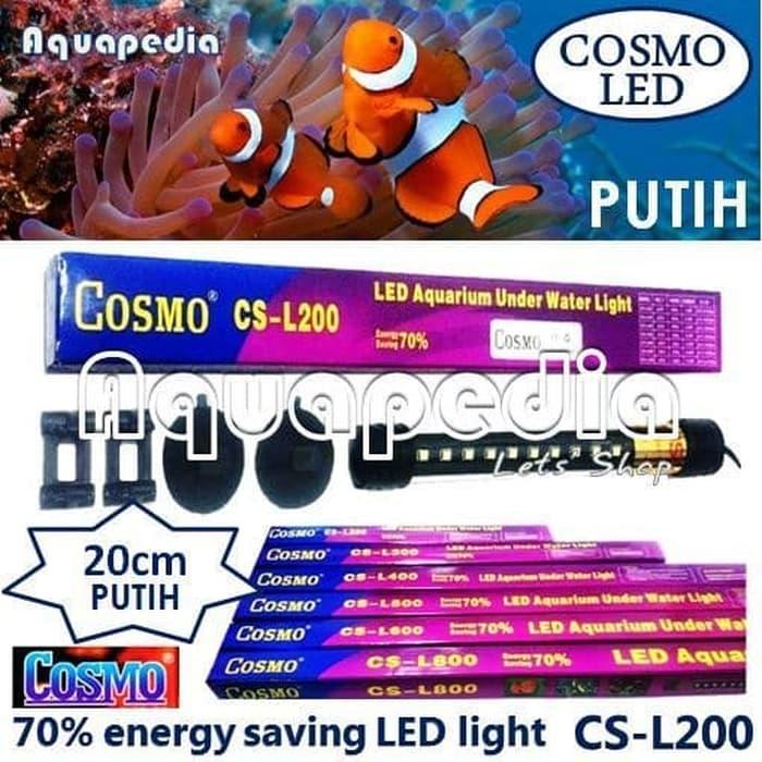 Cosmo CS-L200 Lampu LED 20cm Aquarium Underwater Light Warna Putih PROMO COD lampu aquarium led/lampu aquarium mini/lampu aquarium celup/lampu aquarium led 60cm/lampu aquarium led 100 cm murah