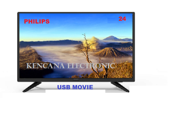 Philips 24PHA4003S Televisi LED TV- USB MOVIE  FREE ONGKIR  &Khusus JABODETABEK