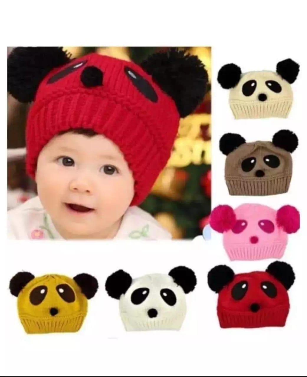 Bayi balita anak topi kupluk musim dingin hangat bertudung topi rajutan  syal Earflap - International eee3895c12