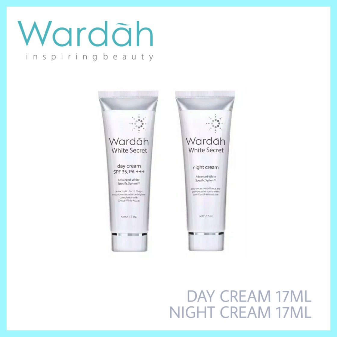 Wardah White Secret Day Cream & Night Cream 17ml