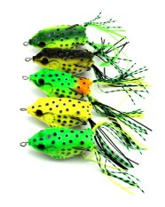 Beli 5Pcs 6Cm 12G Plastis Soft Frog Fishing Lures Sneakhead Wobble Peche Pike Bass Fishing Baits Pesca Fishing Tackles Tiongkok