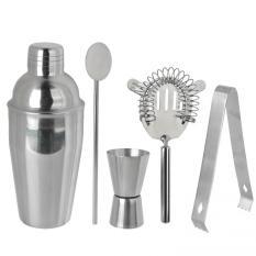 Harga 5 Pcs Set Stainless Steel Cocktail Shaker Mixer Minum Bartender Kit Bar Set Alat Pesta Bartending Bar 350 Ml Oem