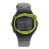 Harga 0441 Tahan Air Adapula Pulsa Monitor Denyut Jantung Olahraga Manajemen Counter Jam Digital With Tanggal Alarm Stopwatch Hijau Internasional Original