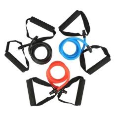 1 * Latihan Resistance Band Pilates Tabung Lateks untuk Rumah Gym Latihan Kebugaran Yoga-Intl
