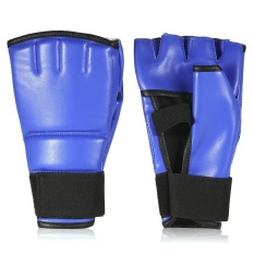1 Pair Boxing Gloves Half Mitts Striking Sparring Gloves Fist Protector Taekwondo Muay Punching Bag Boxing Gym Training Gear