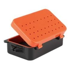 1 Pcs 2 Kompartemen Katrol Memancing Kotak Umpan Cacing Umpan Plastik Tahan Air Alat-Intl