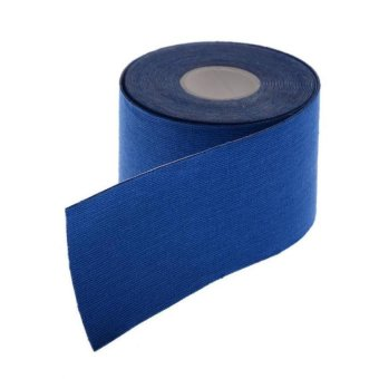 Harga Penawaran 1 Roll Kinesiologi Sport Otot Perawatan Fisioterapi Pita Elastis (Biru Tua)-