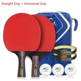 Harga 1 X Horizontal Grip Raket Tenis Meja 1 X Lurus Grip Raket Tenis Meja Butterfly Table Tennis Racket Wakaba Intl Original