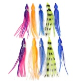 10 50 Pcs Soft Plastic Fishing Lures Octopus Trolling Squid Rok Lure Bait 10 Cm Asli