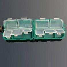 10 Grid Pancing Perlengkapan Kotak Umpan Bait Kait Penyimpanan Kotak Kotak Kait Kecil-Internasional
