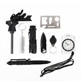 Review Tentang 10 In 1 Professional Survival Kit Outdoor Travel Hike Field Camp Emergency Kits Intl