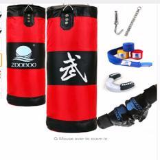 100 Cm Pelatihan Kebugaran MMA Tinju Meninju Tas Sport Segera Membangun Blokade Kantung Muay Thai Latihan Set Tinju Sarung Tangan & Wrap & Gigi Guard & Hook