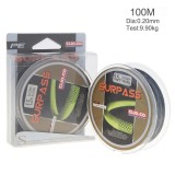 Beli 100M Gray Super Strong Multifilament Fishing Line 4 Strands Weaves Pe Braided Fishing Rope Size 1 5 Intl Baru