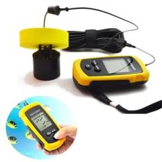 100 M Sonar Portabel Sensor Pelacak Ikan Menangkap Transduser Alarm + LCD-Intl