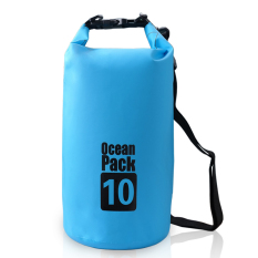 Harga 10 Liter Kolam Laut Paket Tas Tahan Air Tas Penyimpanan Karung For Perjalanan Arung Jeram Berperahu Kayak Kano Berkemah Snowboarding Biru Lengkap