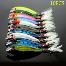 10 Pcs Fishing Lures Wobblers Umpan Tackle Buatan Baits 9 Cm-Intl