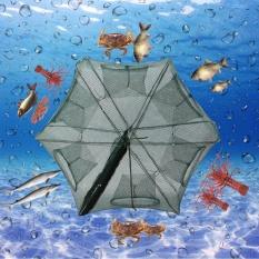 12 Lubang Perikanan Otomatis Nil Udang Bersih Nilon Perangkap Ikan Cast-Intl