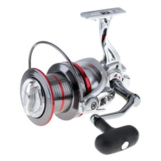 12000 Series 14+1 BB Full Metal Spinning Fishing Reel Long Distance Surfcasting Wheel with Larger Spool