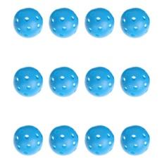 12 Pcs Biru Plastik Whiffle Aliran Udara Hollow Golf Praktek Pelatihan Balls (Biru)-