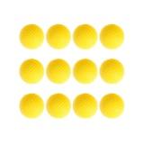 Diskon 12 Pcs Golf Pu Bola Interior Pemula Training Lembut Ball Kuning Intl Oem