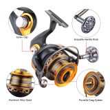 Top 10 13 1Bb Bantalan Bola Profesional Fishing Reel Jarak Jauh Surfcasting Reel Kiri Kanan Convertible Bisa Dilipat Spinning Reel Fishing Tackle 7000 Intl Online