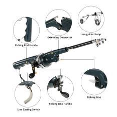 Harga 133 Cm Folding Mini Fishing Rod Teleskopis Lipat Fighting Pole Portable Fishing Rod Reel Combo Dengan Fishing Line Carp Fishing Mengatasi Internasional Baru