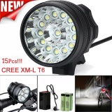 Review Toko 15 X Xm L T6 Led 6 X 18650 Bicycle Cycling Light Waterproof Lamp Intl