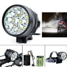 Jual 15000Lm 7 X Cree Xm L T6 Led 6 X 18650 Bicycle Cycling Light Waterproof Lamp Intl Baru