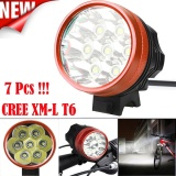 Jual 15000Lm 7 X Cree Xm L T6 Led Sepeda Bersepeda Light Lampu Tahan Air Intl Not Specified