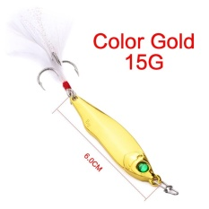 Dapatkan Segera 15G 35G 1 Pc Spoon Fishing Lure Metal Fishing Bait Feather Hook Metal Baits Intl