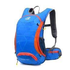 Review Tentang 15L Sepeda Bersepeda Backpack Helm Air Kandung Kemih Bag Blue