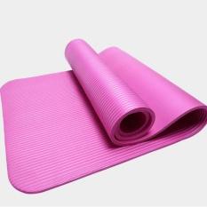 Toko 185 Cm 10Mm Tebal Nbr Yoga Mat Melebar Multifungsi Olahraga Dan Kebugaran Bantalan Pelindung Pilates Mat Non Slip Senam Mat Pink Intl Oem