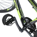Model 1Pair Fixed Gear Bicycle Anti Slip Double Adhesive Pedal Toe Clip Strap Belt Black Intl Terbaru