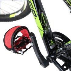 Cuci Gudang 1 Pair Fixed Gear Sepeda Anti Slip Perekat Ganda Pedal Toe Strap Tali Merah Intl