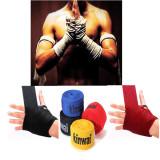 Spesifikasi 1 Pasang Kick Boxing Perban Tangan Membungkus Mma Pelatihan Pukulan Sarung Tangan Perlindungan Tangan Merah Online