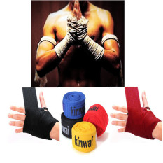1 Pasang Kick Boxing Perban Tangan Membungkus Mma Pelatihan Pukulan Sarung Tangan Perlindungan Tangan Merah Di Tiongkok