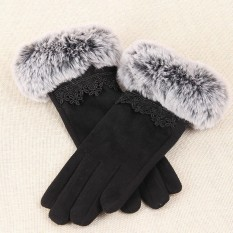 1Pair Winter Warm Touch Screen Riding Drove Gloves for Women - intl