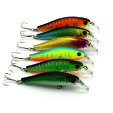 1 Set 6 PC 8.5 CM 3D Buatan Mata Ikan Fishing Bait Minnow Hard Fishing Umpan-Internasional