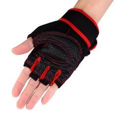 Harga 2 Buah Angkat Berat Gym Pelatihan Kebugaran Sarung Tangan Merah Xl Intl Termurah