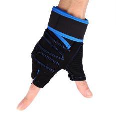 Jual 2 Buah Sarung Tangan Angkat Berat Gym Pelatihan Kebugaran Latihan Latihan Olahraga Pergelangan Tangan Tali Pembungkus Biru Xl Intl Oem Branded