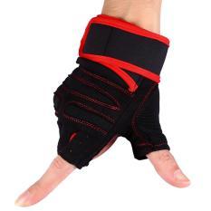 Jual 2 Buah Angkat Berat Gym Pelatihan Kebugaran Sarung Tangan Latihan Latihan Olahraga Pergelangan Tangan Tali Pembungkus Merah M Intl Murah