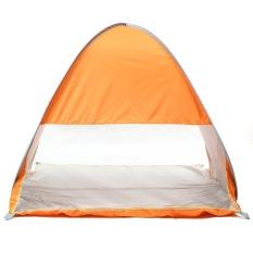 2-Person Portable Waterproof Camping Tenda Keluarga Tenda Outdoor Hike Canopy Olahraga Oranye Gelap-Internasional