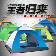 200x135 Cm Cepat-opeing Tenda Otomatis 3 Dr 4 Orang Berkemah Tenda-tenda-