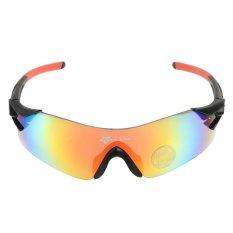 Harga Hemat 2015 Rockbros Kacamata For Bersepeda Kacamata Sepeda Kacamata Olahraga Sepeda Merah Hitam