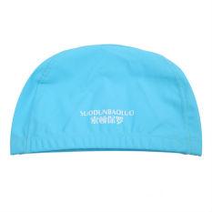 2015 Musim Panas Baru Arrival Hot Jual Tahan Air PU Unisex Swimming Cap-10 Warna Sport-0094 Biru Muda
