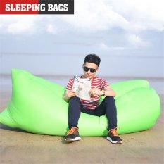 Toko 2016 Terbaik Kualitas Fashion Kreatif Beach Inflatable Bean Bags Lounger Kantong Tidur Hijau Lengkap