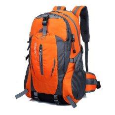Jual 2016 High Capacity Outdoor Travel Waterproof Backpack 40L Orange Branded Original