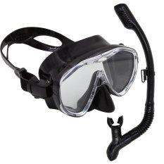 Diskon 2016 The New Couple Diving Suit Scuba Diving Snorkeling Freediving Mask Snorkel Set Intl Black Akhir Tahun