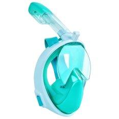 Harga 2017 Baru Kedatangan Snorkeling Masker Penuh Desain Wajah Snorkeling Masker Menyelam Teknologi Anti Kabut Dan Anti Bocor Air Olahraga Hijau Intl Asli